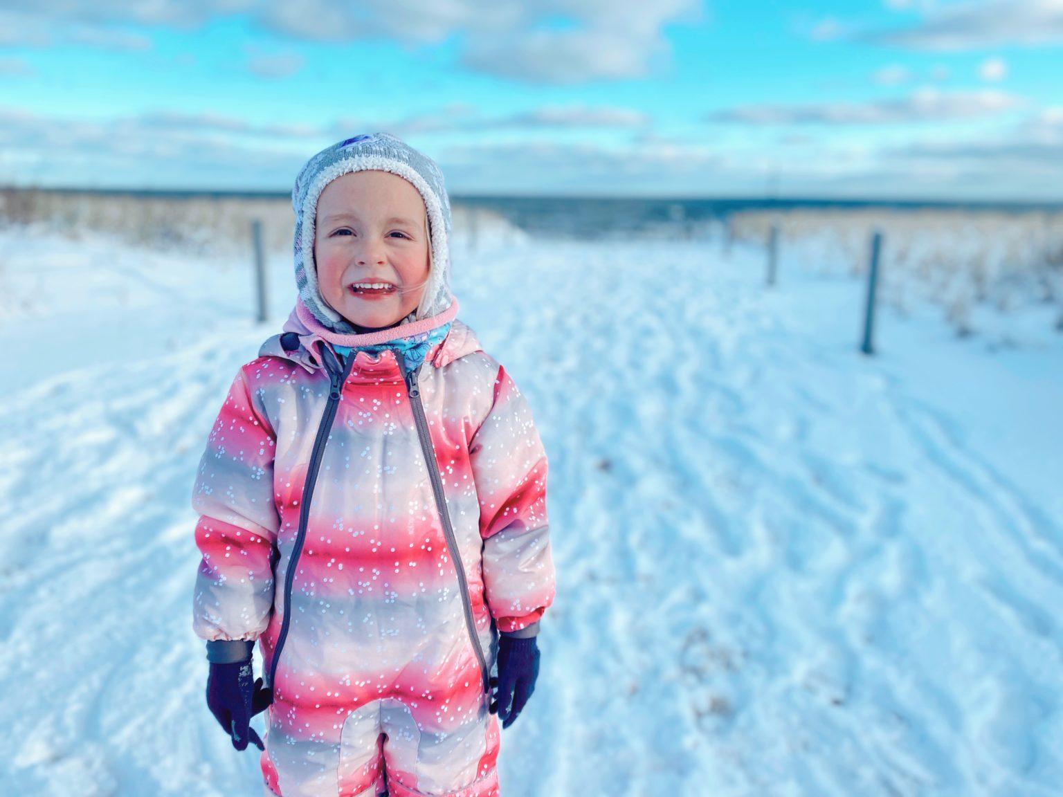 Wir waren zur Mutter Kind Kur an der Ostsee und hatten Schnee